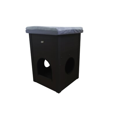 27 EcoFLEX Cat Cube with Scratch Pad Color: Black