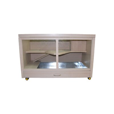 Indoor Small Animal Rabbit Hutch Color: Natural
