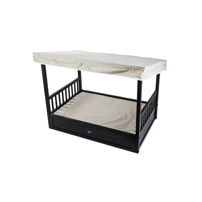 Outdoor Cot with Cover Color: Espresso/Off- White