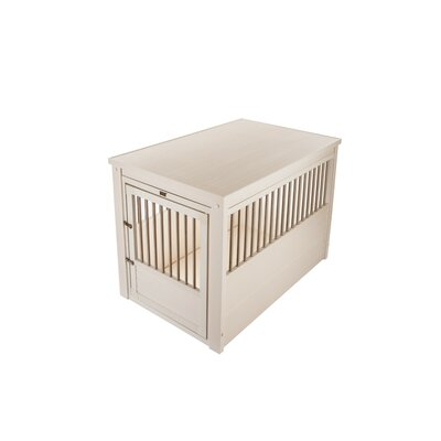 ecoFLEX Crate End Table Size: Large (28 H x 24 W x 35.4 D), Color: Antique White