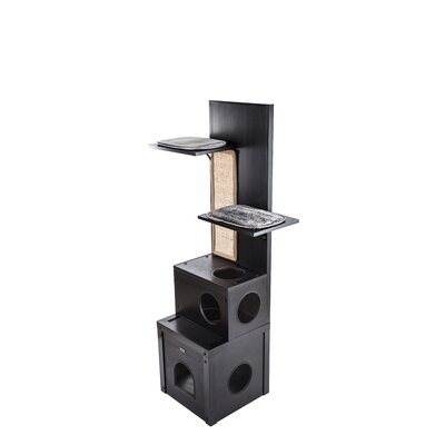 Cheyanne 60 Ecoflex Cat Tree Color: Espresso