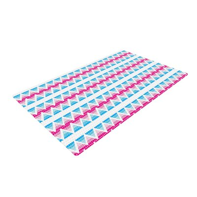 Apple Kaur Designs Swimming Pool Tiles Blue/Pink Area Rug Rug Size: 2 x 3