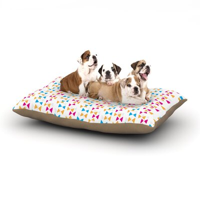 Apple Kaur Designs Lets Celebrate Dog Pillow with Fleece Cozy Top Size: Large (50 W x 40 D x 8 H)