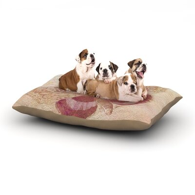 Suzanne Carter Vintage Garden Butterfly Moth Dog Pillow with Fleece Cozy Top Size: Small (40 W x 30 D x 8 H)