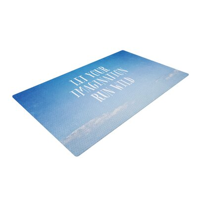 Susannah Tucker Let Your Imagination Run Wild Ocean Blue/White Area Rug