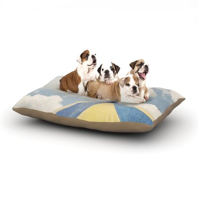 Susannah Tucker Carnival Tent Sky Clouds Dog Pillow with Fleece Cozy Top Size: Large (50 W x 40 D x 8 H)