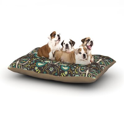 Suzie Tremel Butterfly Garden Dog Pillow with Fleece Cozy Top Size: Small (40 W x 30 D x 8 H)