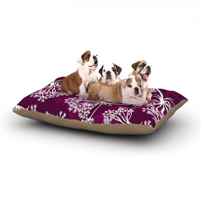 Suzie Tremel Squiggly Floral Dog Pillow with Fleece Cozy Top Size: Small (40 W x 30 D x 8 H)