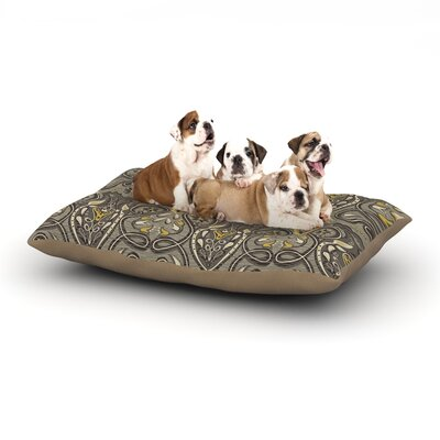 Suzie Tremel Vintage Damask Dog Pillow with Fleece Cozy Top Size: Small (40 W x 30 D x 8 H)