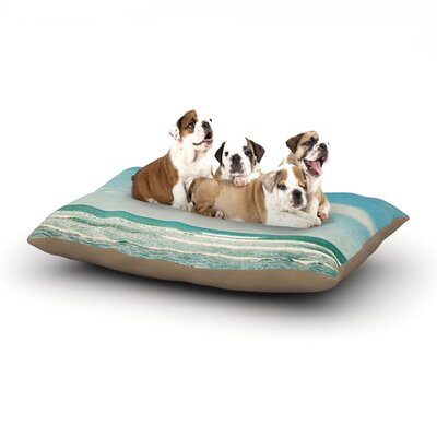 Susannah Tucker The Teal Ocean Dog Pillow with Fleece Cozy Top Size: Large (50 W x 40 D x 8 H)