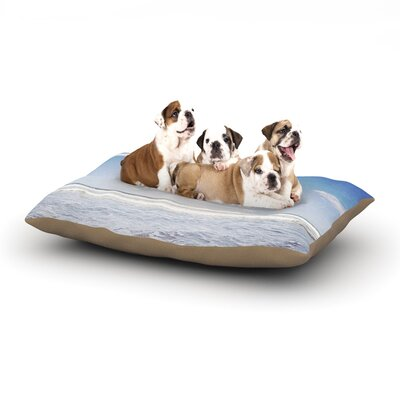 Susannah Tucker Seek Adventure Beach Dog Pillow with Fleece Cozy Top Size: Small (40 W x 30 D x 8 H)