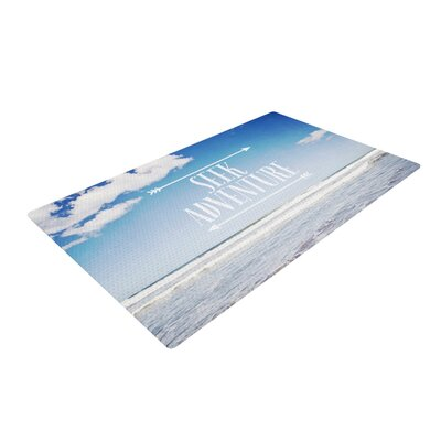 Susannah Tucker Seek Adventure Beach Blue/White Area Rug