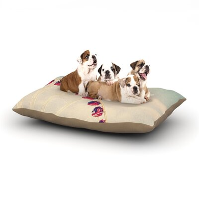 Susannah Tucker She Loved Adventure Ferris Wheel Dog Pillow with Fleece Cozy Top Size: Small (40 W x 30 D x 8 H)