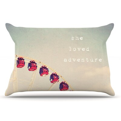 Susannah Tucker She Loved Adventure Ferris Wheel Pillow Case