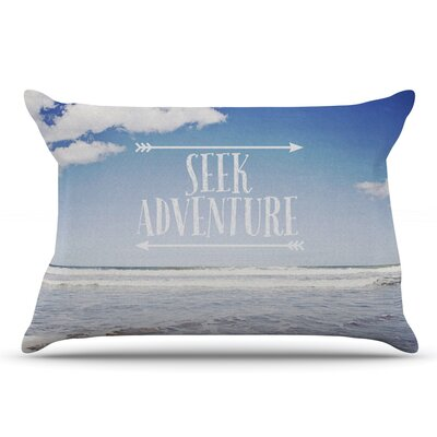 Susannah Tucker Seek Adventure Beach Pillow Case
