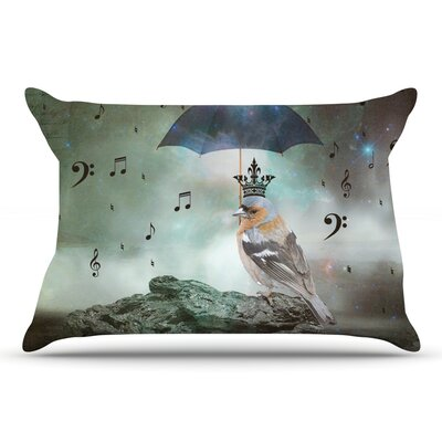 Suzanne Carter Umbrella Bird Pillow Case