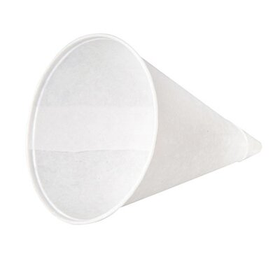 4 oz Rolled-Rim Paper Cone Cups in White KCI40KR