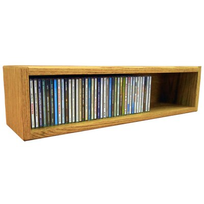 Multimedia Storage Rack Size: 6.75 H x 26.88 W x 6.75 D, Finish: Honey Oak