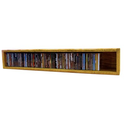 Multimedia Storage Rack Finish: Clear, Size: 6.75 H x 39.44 W x 6.75 D