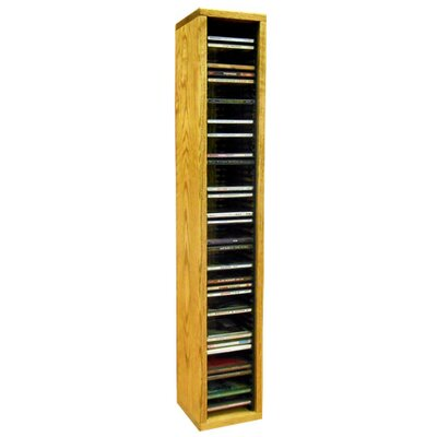 Multimedia Storage Rack Size: 26.88 H x 6.75 W x 6.75 D, Color: Unfinished