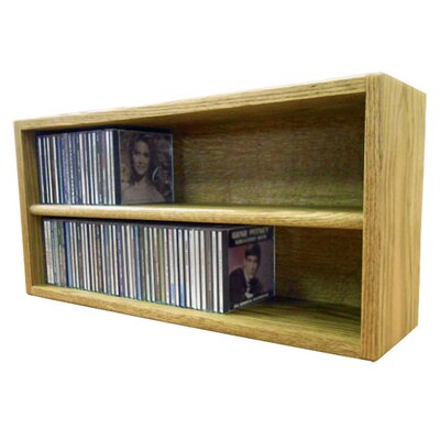 Multimedia Storage Rack Size: 12.75 H x 26.88 W x 6.75 D, Finish: Honey Oak