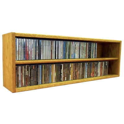 Multimedia Storage Rack Size: 12.75 H x 39.44 W x 6.75 D, Color: Unfinished