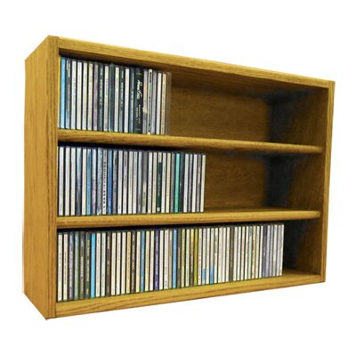 Multimedia Storage Rack Size: 18.75 H x 39.44 W x 6.75 D, Color: Clear
