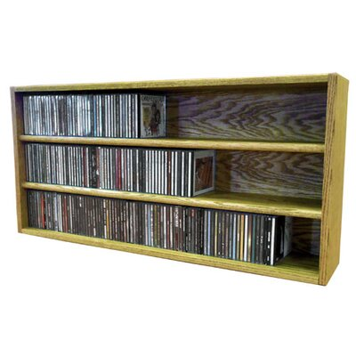 Multimedia Storage Rack Size: 18.75 H x 39.44 W x 6.75 D, Color: Honey Oak