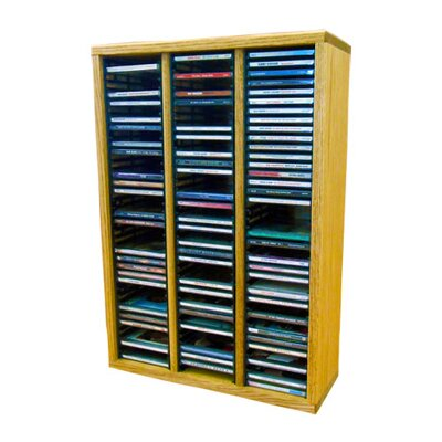Multimedia Storage Rack Size: 26.88 H x 18.75 W x 6.75 D, Finish: Honey Oak