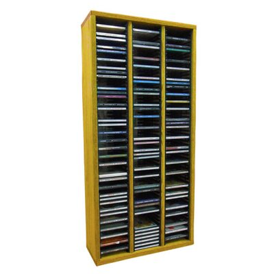 Multimedia Storage Rack Size: 26.88 H x 18.75 W x 6.75 D, Color: Unfinished