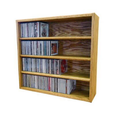 Multimedia Storage Rack Size: 24.75 H x 26.88 W x 6.75 D, Finish: Honey Oak