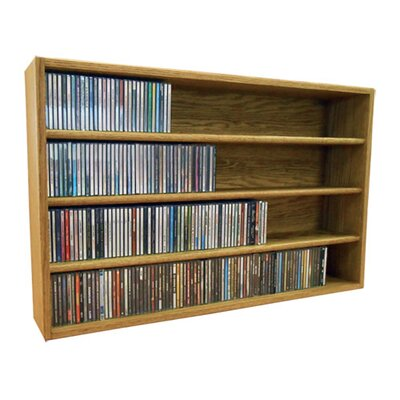Multimedia Storage Rack Size: 24.75 H x 26.88 W x 6.75 D, Color: Unfinished
