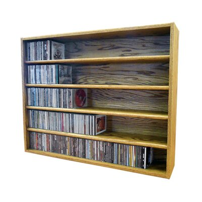 Multimedia Storage Rack Size: 30.75 H x 39.44 W x 6.75 D, Color: Honey Oak