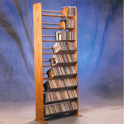 Deluxe 504 CD Multimedia Storage Rack Color: Natural