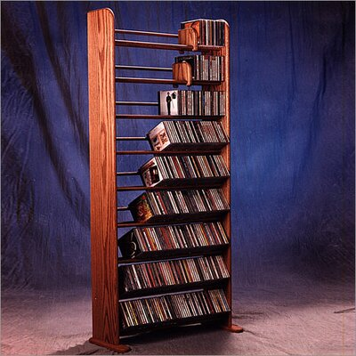 Deluxe 504 CD Multimedia Storage Rack Finish: Clear