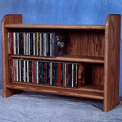 Deluxe 110 CD Multimedia Tabletop Storage Rack Color: Dark