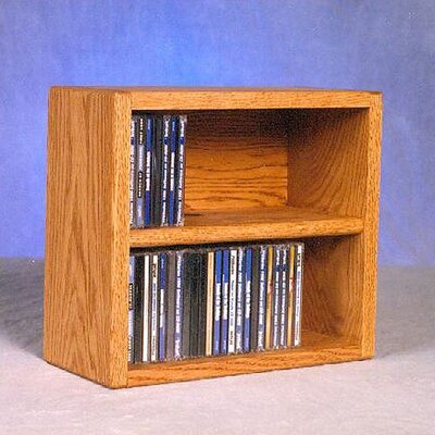 200 Series 52 CD Multimedia Tabletop Storage Rack Color: Natural