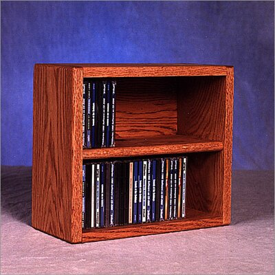 200 Series 52 CD Multimedia Tabletop Storage Rack Color: Unfinished