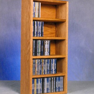500 Series 130 CD Wall Mounted Multimedia Storage Rack Color: Natural