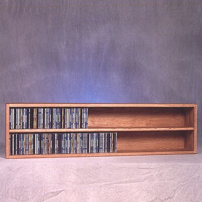 200 Series 236 CD Multimedia Tabletop Storage Rack Finish: Clear