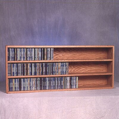 300 Series 354 CD Wall Mounted Multimedia Storage Rack Color: Natural