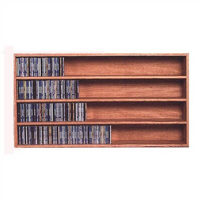 400 Series 472 CD Wall Mounted Multimedia Storage Rack Color: Natural
