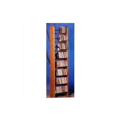 800 Series 208 CD Backless Dowel Multimedia Storage Rack Finish: Clear