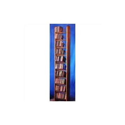 1000 Series 260 CD Backless Dowel Multimedia Storage Rack Finish: Clear