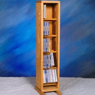 500 Series 70 CD Dowel Multimedia Storage Rack Color: Clear