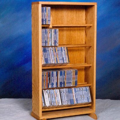 500 Series 210 CD Dowel Multimedia Storage Rack Finish: Clear