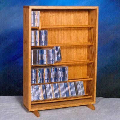 500 Series 275 CD Dowel Multimedia Storage Rack Finish: Natural
