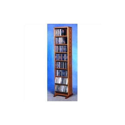 800 Series 208 CD Dowel Multimedia Storage Rack Color: Clear