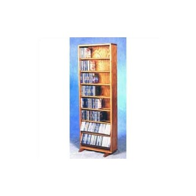 800 Series 336 CD Dowel Multimedia Storage Rack Finish: Clear