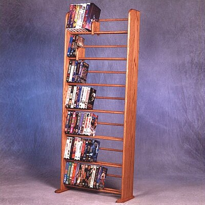 700 Series 280 DVD Dowel Multimedia Storage Rack Finish: Dark